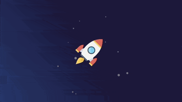 Space rocket with requestAnimationFrame