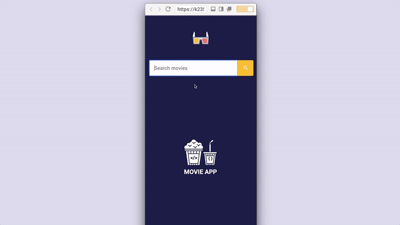Movie search app (1/3) – HTML/CSS