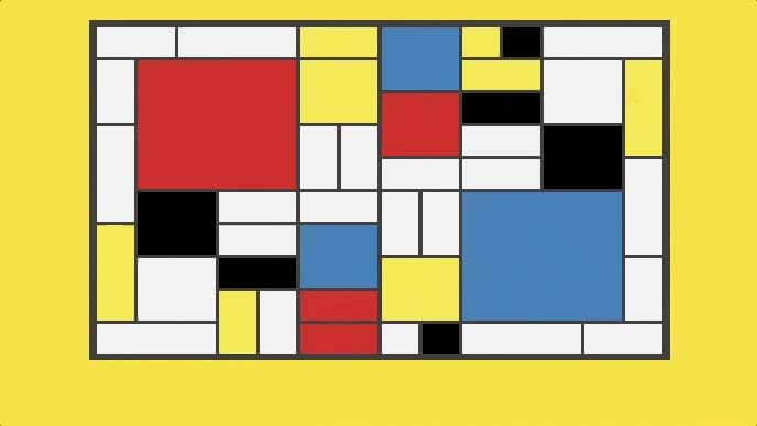 Responsive Mondrian art with CSS grid